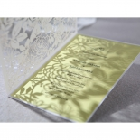 The garden flower laser patterns casting shadows on the plain insider card