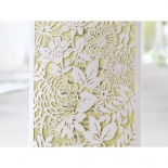 Yellow and white themed garden celebration card