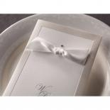 Ribbon and sequin adorned classic invitation