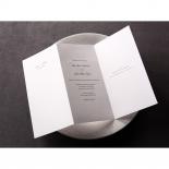 Tri fold portrait orientation classic invitation
