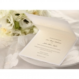 Wedding invite wording and verse printed with digital flat print inside the classic pocket with flower design