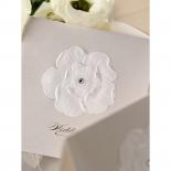 Crystal and flower enhanced traditional wedding card