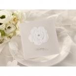 Crystal adorned flower wedding invite design
