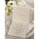 Classic Shimmering Flower Wedding Card