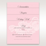 Lace designed pink accessory cards for garden weddings