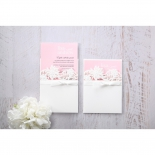 Classic White Laser Cut Floral Pocket Wedding Invitation