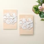 Classic White Laser Cut Sleeve Wedding Card