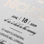 Contemporary Glamour Wedding Invite Card