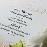 Contemporary Glamour Wedding Invite