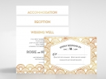 Contemporary Glamour Wedding Invite Design