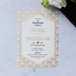 Contemporary Glamour Invitation Card