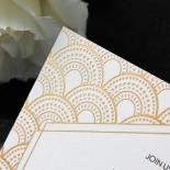 Contemporary Glamour Wedding Invitation Card