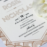 Contemporary Glamour Wedding Card