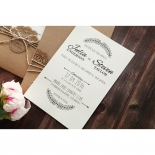 Country Lace Pocket Invitation Design
