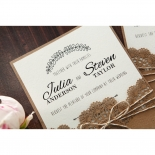 Country Lace Pocket Wedding Card