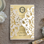 Damask Love Wedding Invitation Card Design
