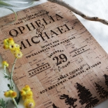 Delightful Forest Romance Wedding Invite