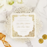 Divine Damask with Foil Wedding Invite Card