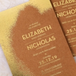 Dusted Glamour Wedding Card Design
