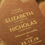 Dusted Glamour Wedding Invite Card Design