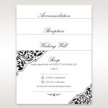 Elegance Encapsulated Laser cut Black Wedding Invite