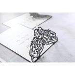 Elegance Encapsulated Laser cut Black Wedding Invite Card Design