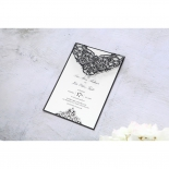 Elegance Encapsulated Laser cut Black Invitation Design