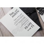 Modern black and white invitation in lace style