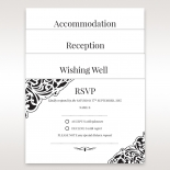 Black themed formal wedding accessory card set