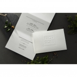 Embossed Date Wedding Invite Card
