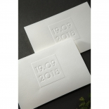Embossed Date Card Design