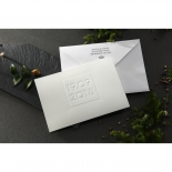 Embossed Date Wedding Invite