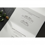 Embossed Date Invite Card