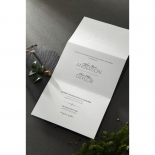 Embossed Date Wedding Card