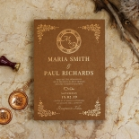 Enchanted Crest Stunning invitation card