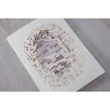 Lilac and nature themed bridal card with matte sleeve