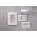 Stationery and accessory cards with three dimensional forest laser cutting designs