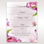 Wedding accessory cards with vibrant floral designs