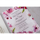 Bright coloured flowers printed on modern celebration card