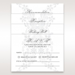Flower patterned white and grey insert card