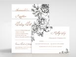 English Rose Wedding Invite Card