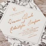 English Rose Invite Card Design