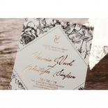 English Rose Wedding Invite Card Design