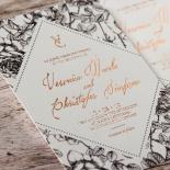 English Rose Wedding Invite Design