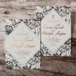 English Rose Wedding Invitation Design