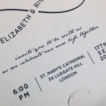 Eternal Simplicity Wedding Invite Card Design