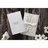 Personalised cover text of a folded insert created from canvas paper