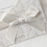 Traditional floral invite with satin white bow