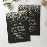 Fire Sparkle Wedding Invite Card Design