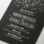 Fire Sparkle Wedding Invite Design